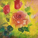 Roses Alla Prima by AngelArtiste