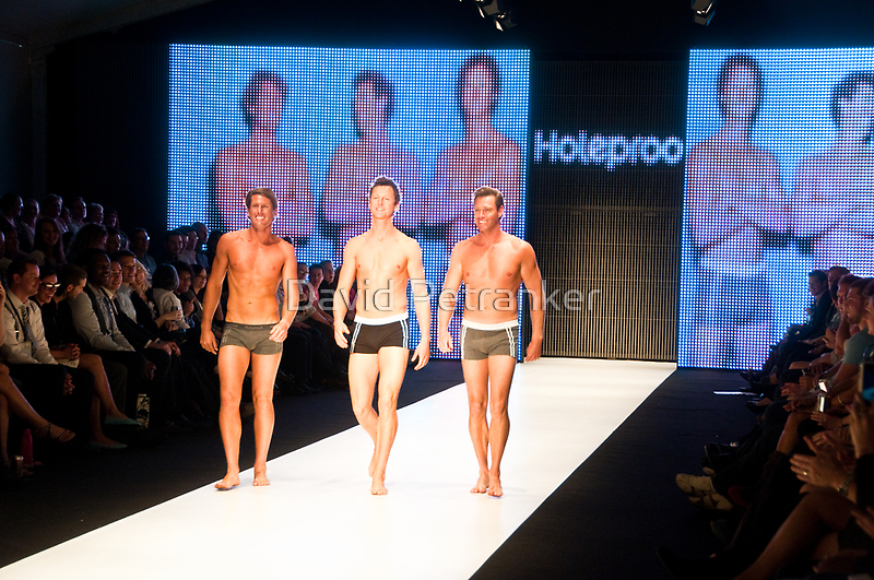 Hot in the City - The blokes from Bondi Rescue (Harries, Hoppo and Deano) by David Petranker