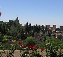 The Alhambra in Granada, Spain   by Linda More