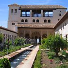 Palace within the Alhambra in Granada, Spain   by Linda More