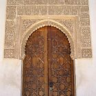 Palace door within the Alhambra, Granada, Spain by Linda More