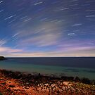Star Trails at Point Turton by Wayne England