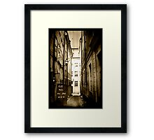 Stockholm - Alley Cafe Framed Print