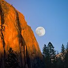 "El Capitan ""Sunset-Moonrise"" by Donn Hoyer"