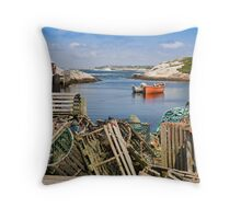 Peggy's Cove, Nova Scotia Throw Pillow