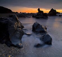 West Coast Beach at Sunset by Paul Mercer