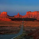 Monument Valley. Road Shot at Sunrise. Arizona. USA by photosecosse /barbara jones