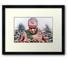 It's so cold! Will anybody offer me a coat? Framed Print