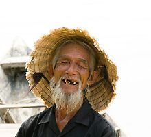 Old Vietnamese Fisherman by InterfaceImages