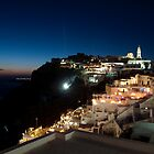 Santorini, Greece at Night by InterfaceImages