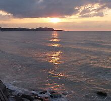 Sunset at Colwyn Bay, North Wales by LumixFZ28