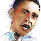 Barack Obama Portrait by James Cattlett by CattlettArt