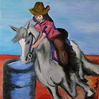 the barrel racer by dallys