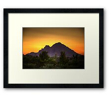 Camelback Sunrise Framed Print