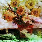 &quot; Here Comes The Sun &quot;   Surreal Sunflowers on Table      by Rick  Todaro