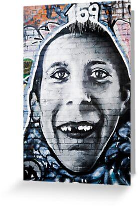 Graffiti Face of teethless boy by yurix