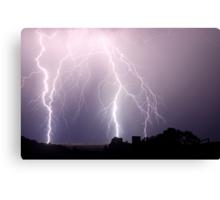 Lightning Blast over Coraki Canvas Print