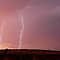 Sunset Lightning near Millmerran by Michael Bath