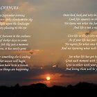 Changes (poem on sunset) by Gary Heald LRPS