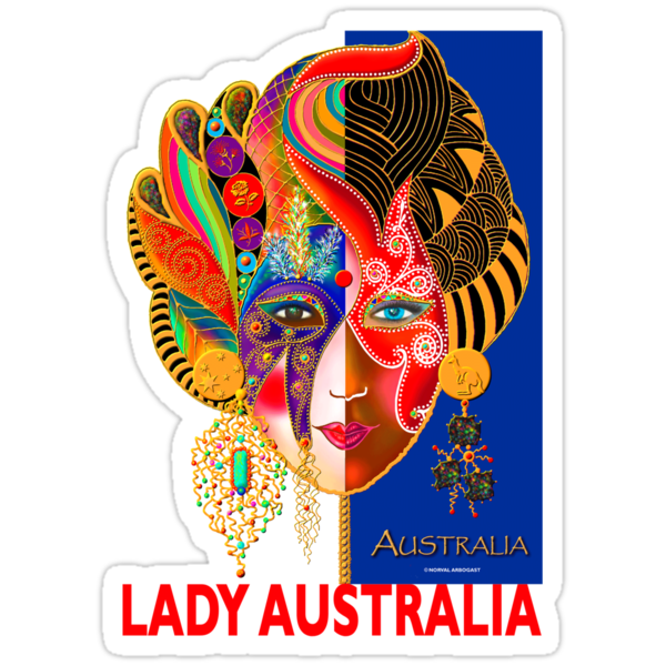 'Lady Australia' T-Shirt by luvapples downunder/ Norval Arbogast