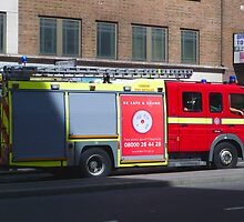london fire engine by Janis Read-Walters