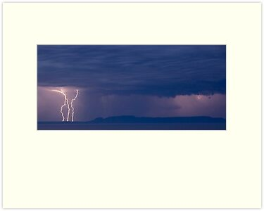 Sleeping Giant Lightning Storm by Ian Benninghaus
