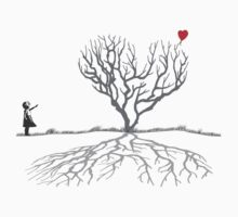 Banksy Heart Tree Shirt Kids Clothes