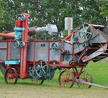 Old Threshing Machine. by MaeBelle