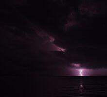Lightening over Caribbean Sea by Karel Kuran