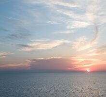 Sunset over the Gulf of Mexico 9 by Bill Perry
