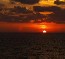Sunset over the Gulf of Mexico 10 by Bill Perry