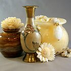 Vases Flowers and Scarab Beads by Dana Roper