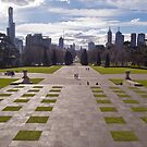 Melbourne Skyline by Leanne Nelson