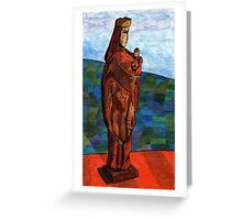 27 - LADY IN RED - DAVE EDWARDS - INK & COLOURED PENCIL - 1978 Greeting Card