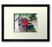 Wine Wagon Framed Print