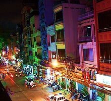 Ho Chi Min city lights by twoboos
