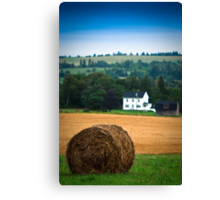 The Hay Bale Canvas Print