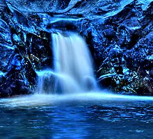 Blue Falls hdr by Jeannie Peters