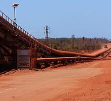 Bauxite Conveyor. by Barbara Harris