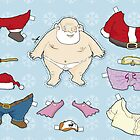 Santa Claus paper doll by JasonBronkhorst