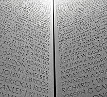 The Vietnam Memorial Wall by Cora Wandel