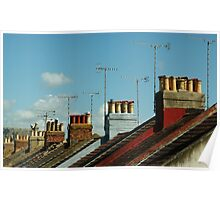 Rooftops of Worthing Poster