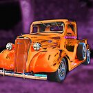 30&#x27;s Screamin&#x27; Orange Chevy Pickup by TWindDancer