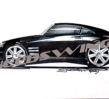 Chrysler Crossfire Limited Original Rendering by ejosephdesign