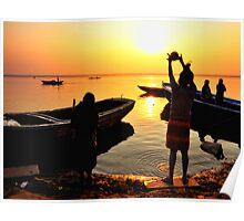 Ganges Sunrise Poster