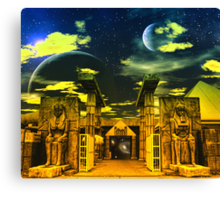 Bistro at the Edge of Never- a collaboration. Canvas Print