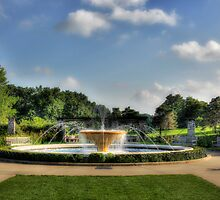 Rose Garden Fountain by Delany Dean
