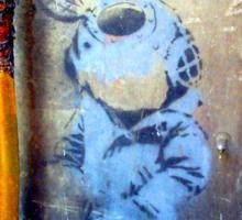 Banksy's Lil Diver Melbourne T-shirt Sticker