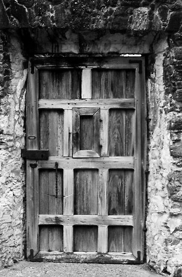 Wooden Door with Peephole by Terence Russell
