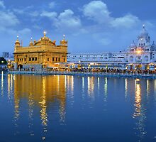 MORNING AT GOLDEN TEMPLE by A P Singh
